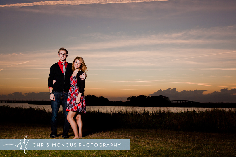 Sunset Holiday Christmas Portrait by Mackay river St Simons