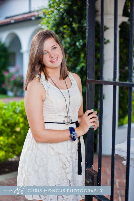 Senior Portraits on Jekyll Island Crane Cottage