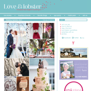 Featured on Love & Lobster: A Coastal New England Wedding Blog