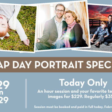 Leap Day Portrait Special – $229 on 2/29!