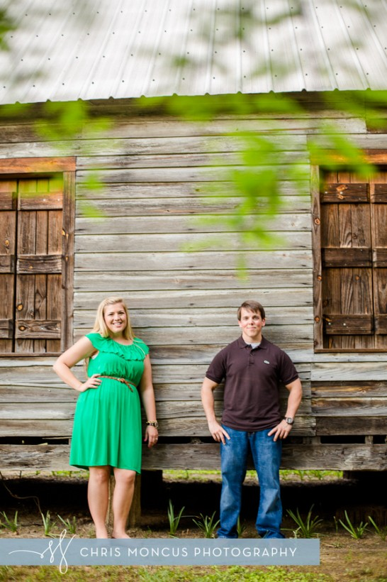 Old Barn Statesboro Engagement Session Georgia Southern University Botanical Gardens