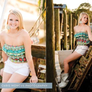 Emily's Senior Portraits on Her Dad's Shrimp Boat || Darien, GA Senior Portrait Photographer