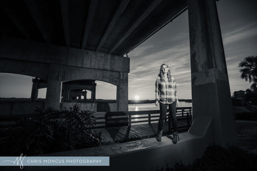 Under a Bridge Sunset Photography
