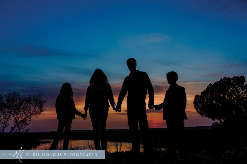 Sunset Family Silhouette