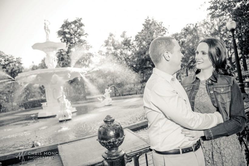 Savannah Engagement Session at Forsyth Park Fountain