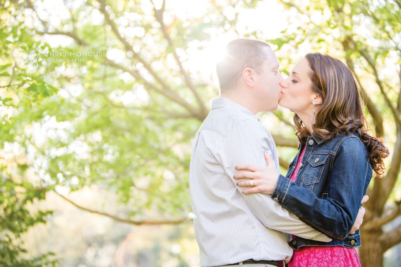 Sunlit Kiss Savannah Engagement Session Photographer