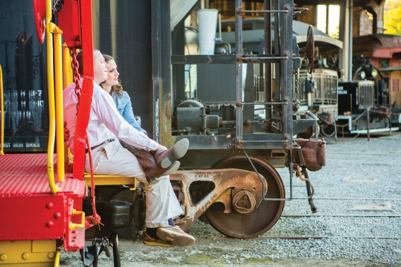 Engagement Session Roundhouse Railroad Museum Savannah