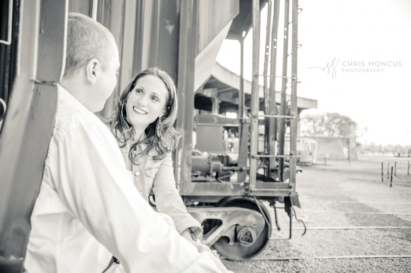 Engagement Session Roundhouse Railroad Museum Savannah GA