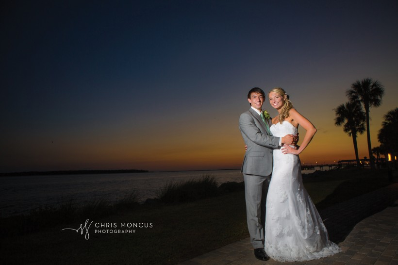 St Simons Island Sunset Wedding