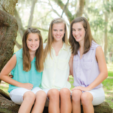 Three Sisters and Three Generations, a St Simons Island Family Session