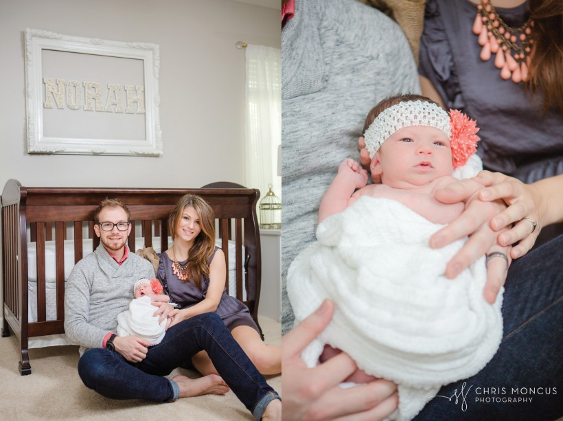 Newborn baby family session St Simons Island