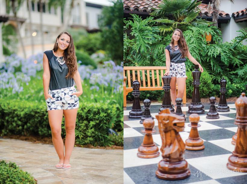 13 Sea Island Club Room Chess Board Senior Portraits