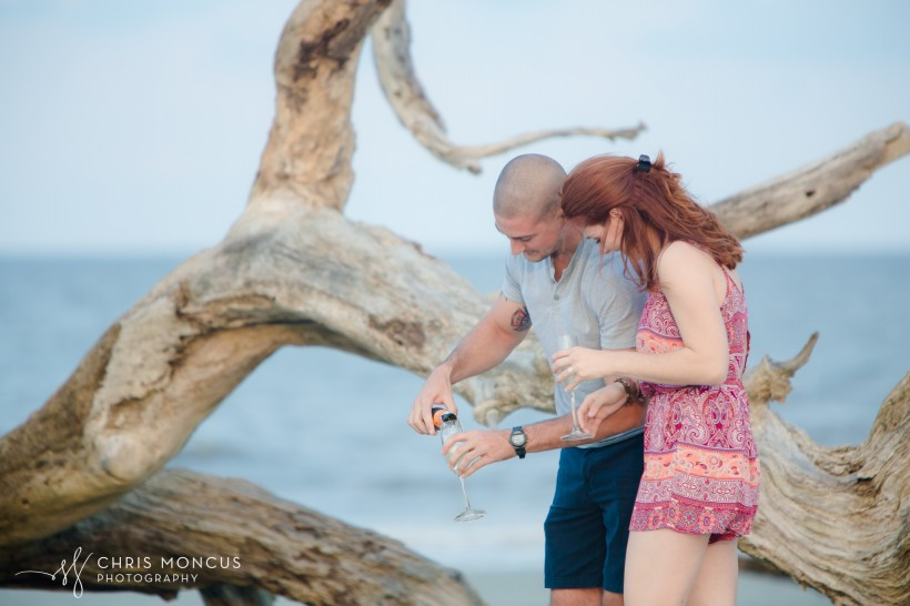 Driftwood Beach Proposal Jekyll Island 10