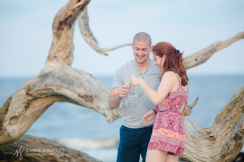 Driftwood Beach Proposal Jekyll Island 11