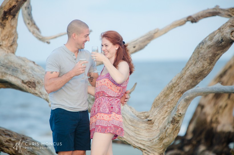 Driftwood Beach Proposal Jekyll Island 12