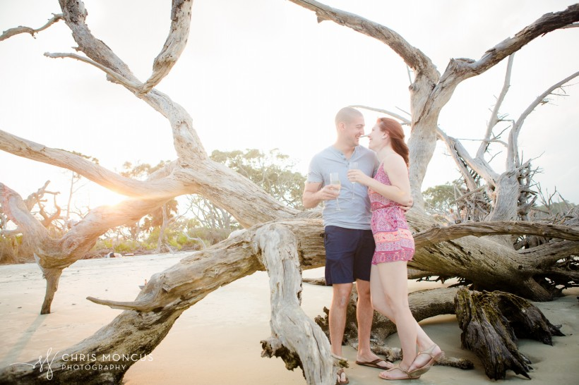 Driftwood Beach Proposal Jekyll Island 17