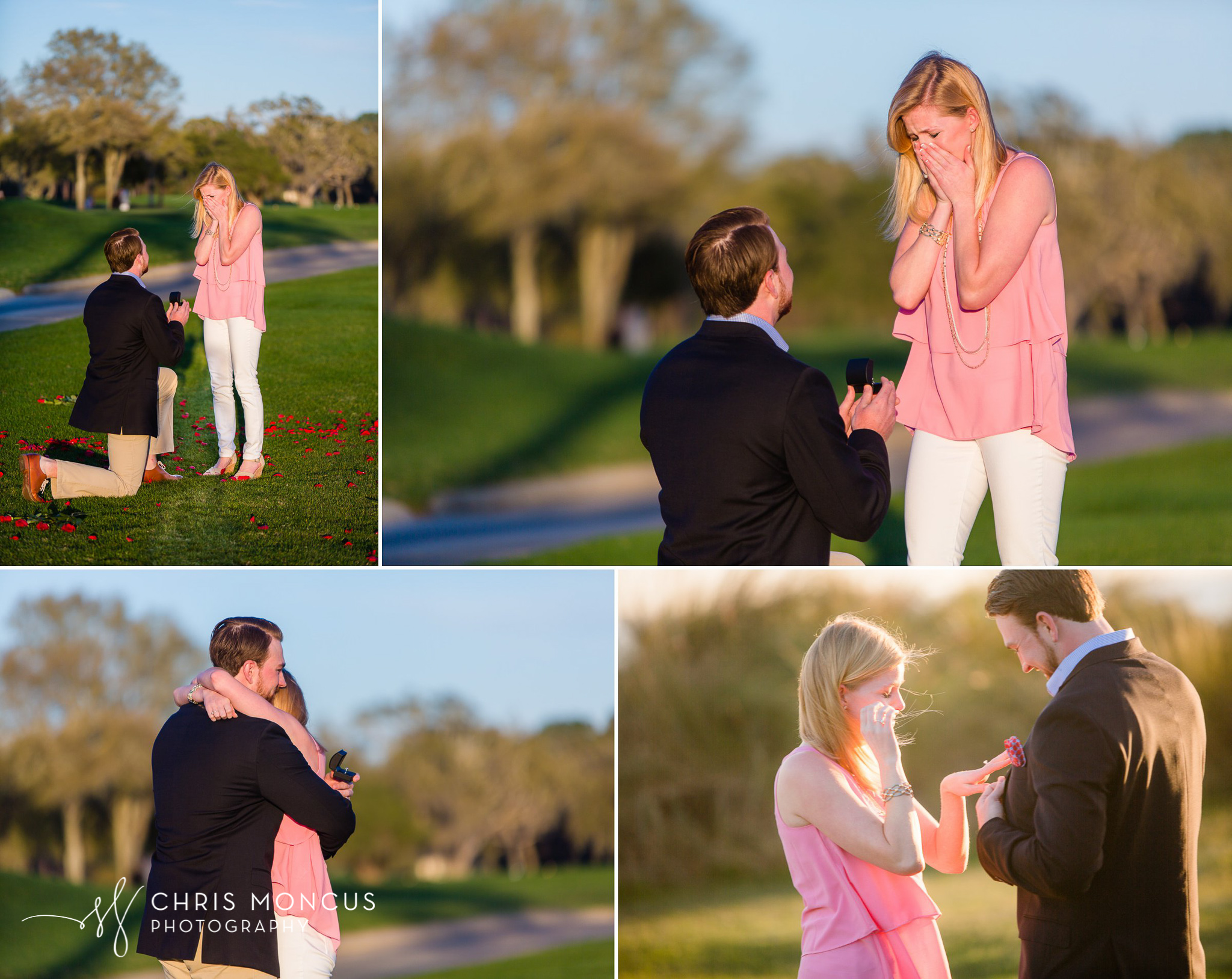 Sea Island Lodge Sunset Wedding Proposal by Chris Moncus Photogr