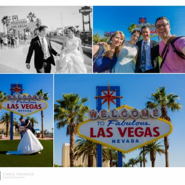 Katie and Matt's Wedding Portraits on the Las Vegas Strip