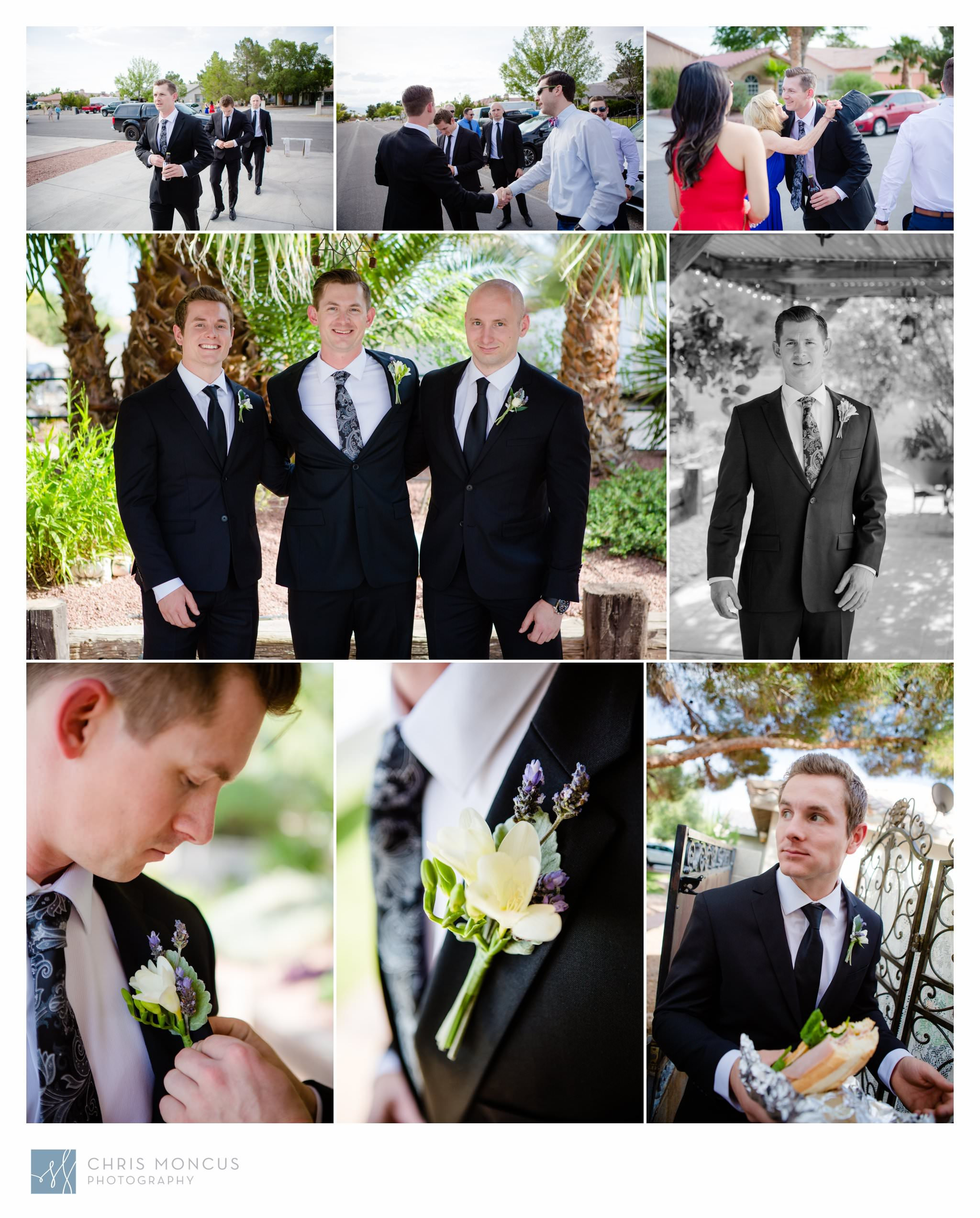 A Groom and His Brothers Las Vegas Wedding