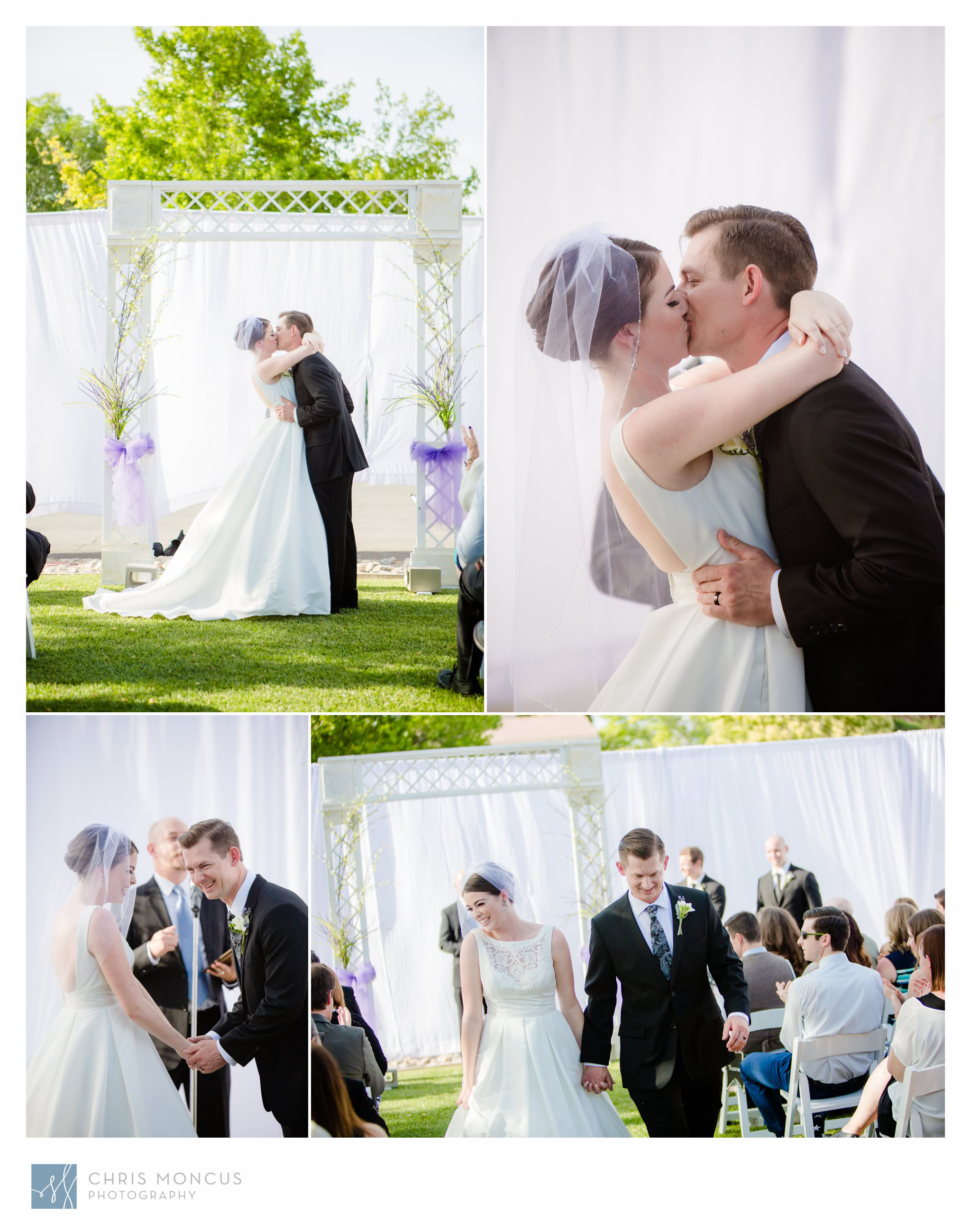 Bride and Groom Kiss Las Vegas Wedding