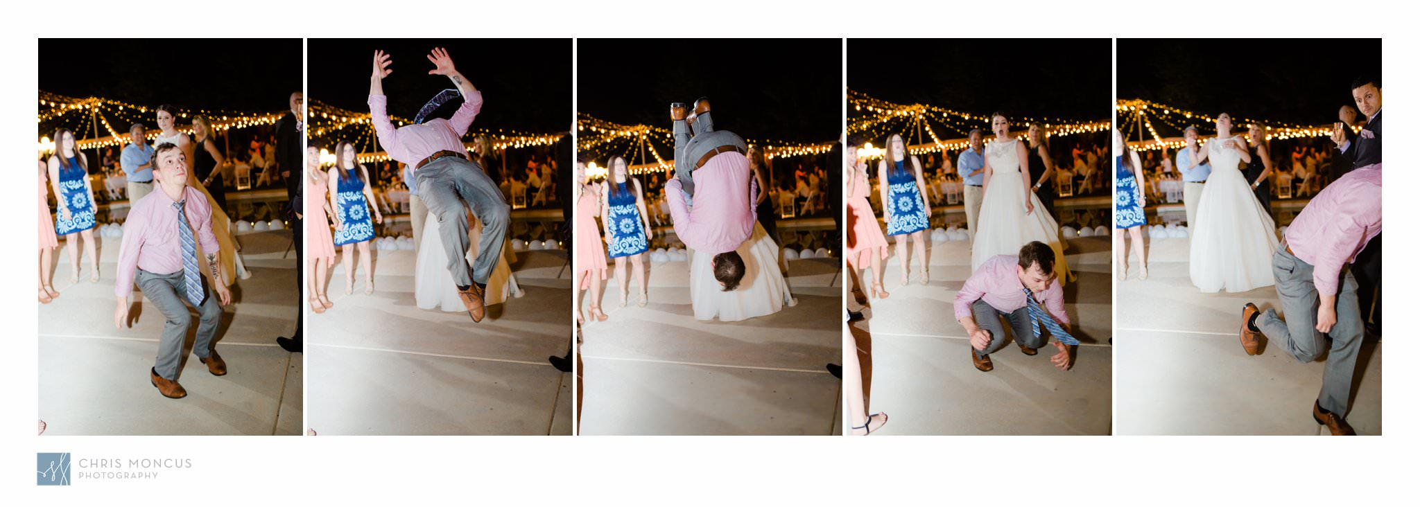 Back Flip at Las Vegas Wedding Reception