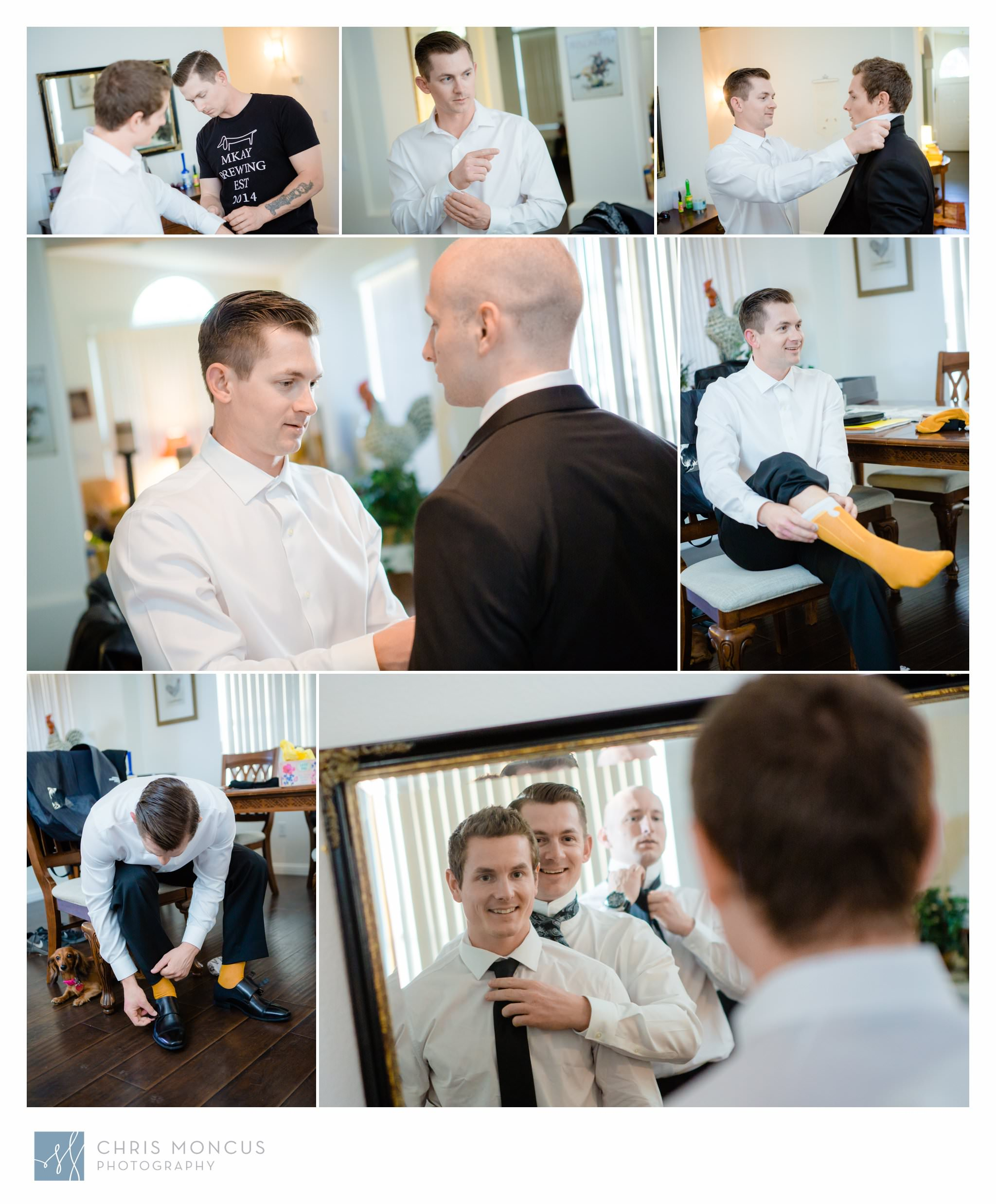 Groom Gets Ready for Las Vegas Wedding