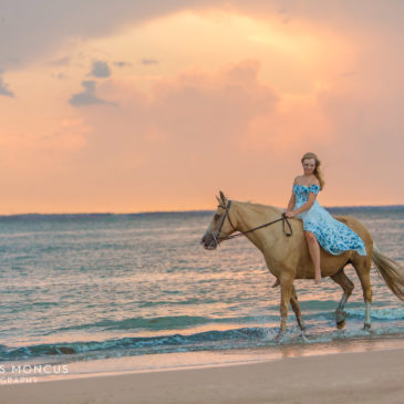 Sneak Peek: Hannah's Horseback Senior Portrait Session at Driftwood Beach on Jekyll Island