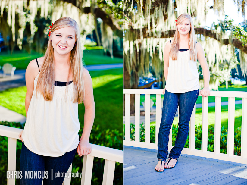 Laynes Senior Portraits on Jekyll Island   Historic District and Driftwood Beach