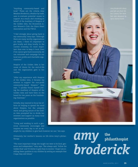 Golden Isles Magazine March April 2011  - Amy Broderick