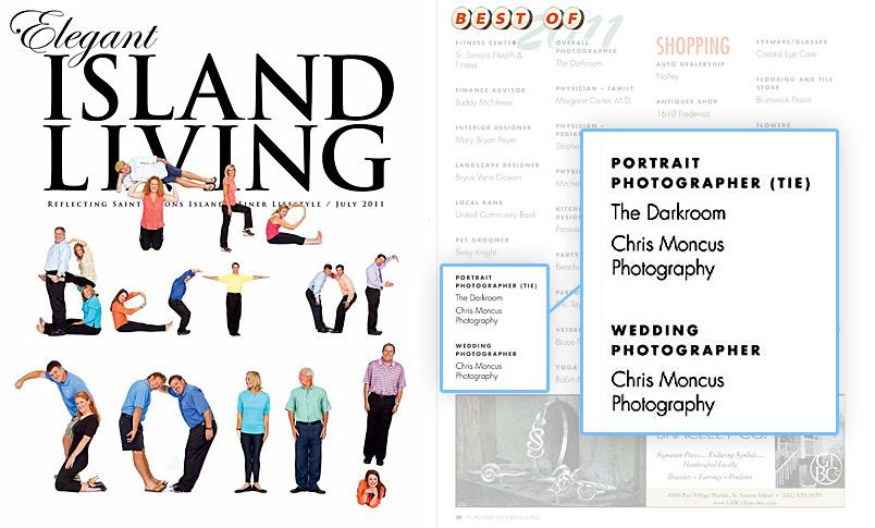 Elegant Island Living Magazine Best Wedding and Portrait Photographer