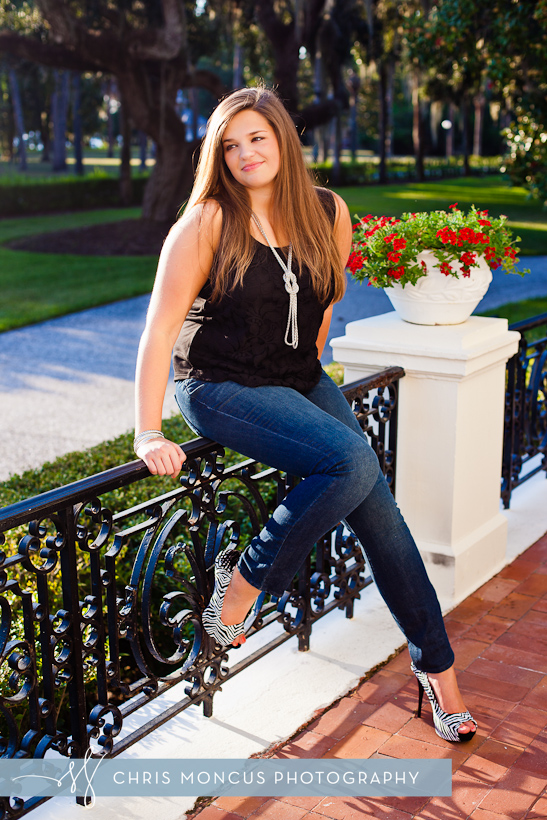 Jekyll Island Senior Portrait Session at Driftwood Beach and Historic District (6)