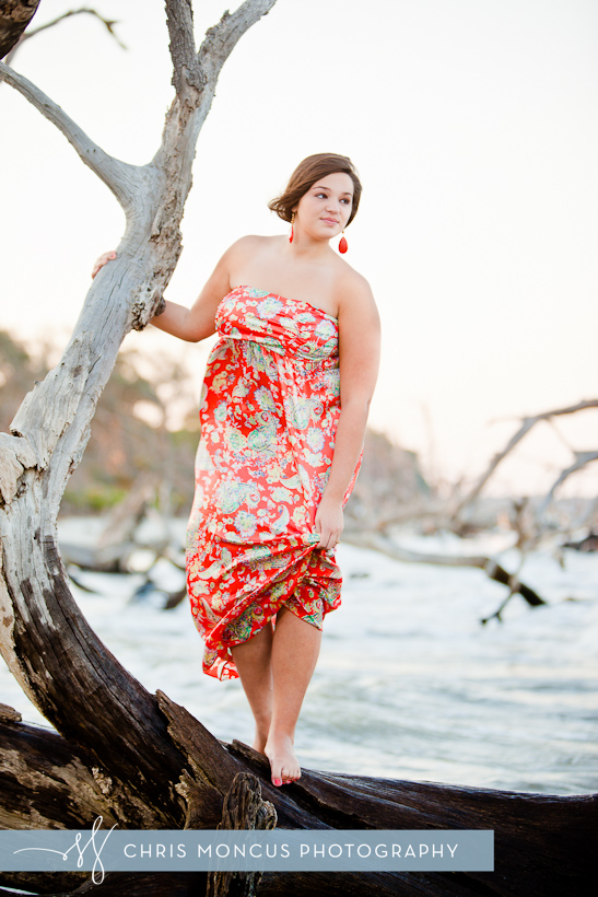 Jekyll Island Senior Portrait Session at Driftwood Beach and Historic District (9)