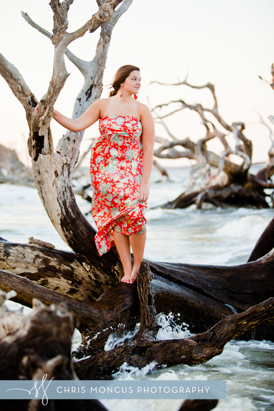 Jekyll Island Senior Portrait Session at Driftwood Beach and Historic District (10)