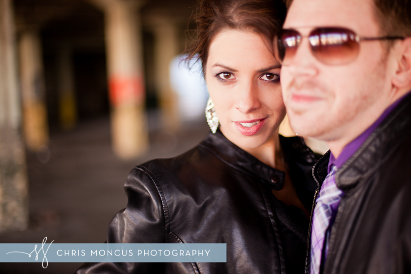 Newlywed couple portrait in Muskegon