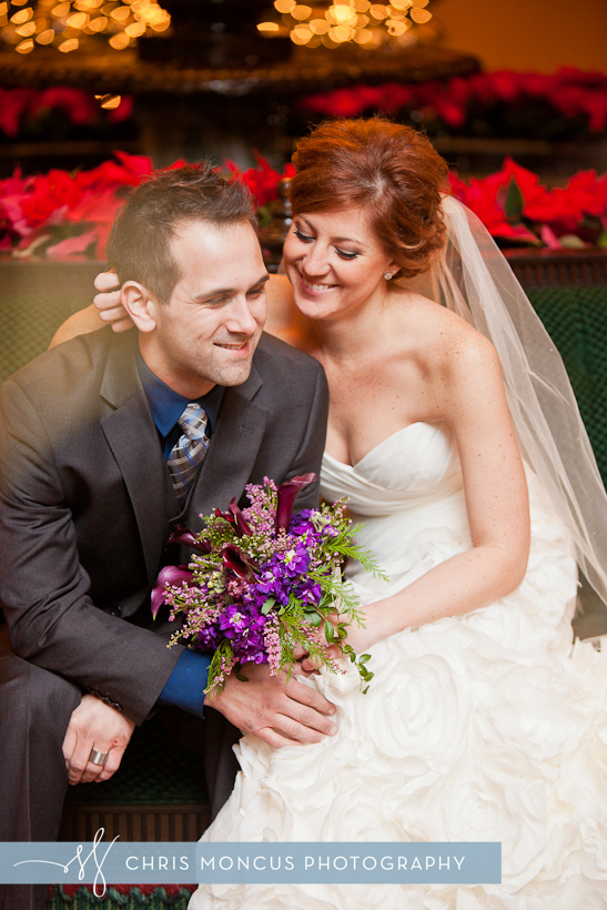 Wedding Couple Portraits in Amway Grand Plaza Grand Rapids