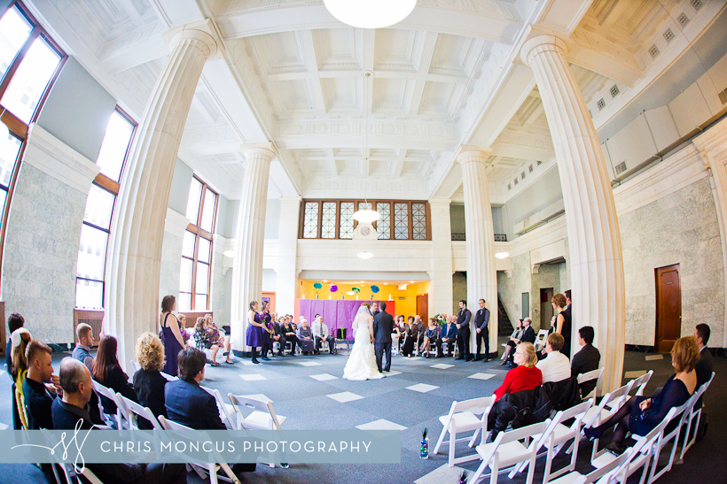 Wedding in Downtown Grand Rapids Bank in McKay Towers