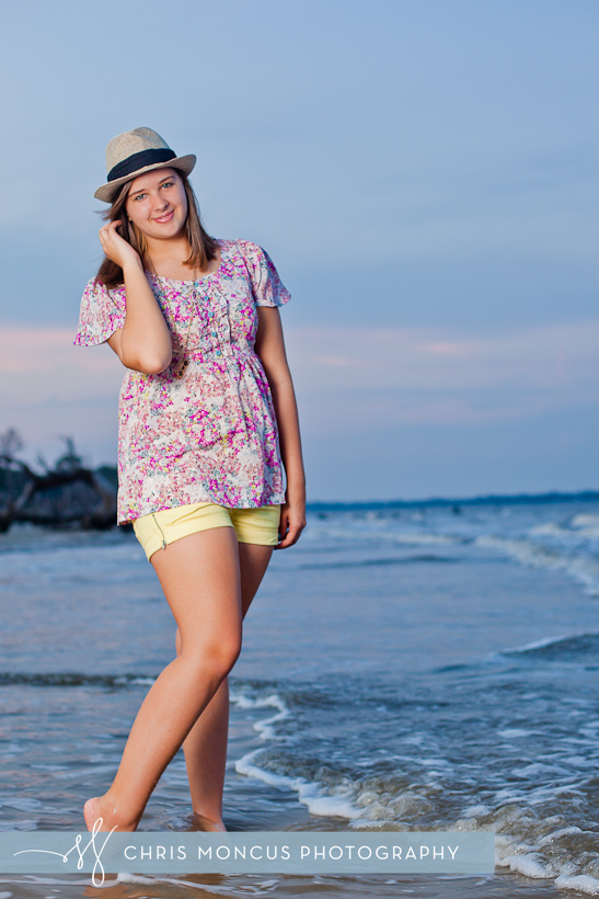 Senior Portraits on at driftwood beach Jekyll Island