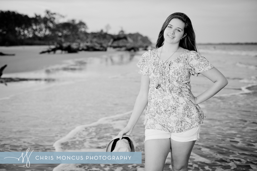 High school Senior Photos on at driftwood beach Jekyll Island