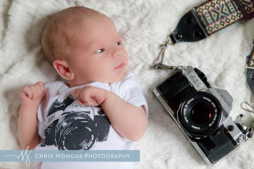 Eliana With Canon AE-1 Program 2 Week Old Baby Photo