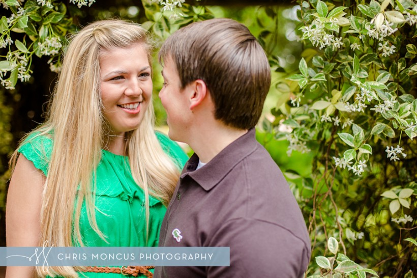 Statesboro Engagement Photographer Georgia Southern University Botanical Gardens