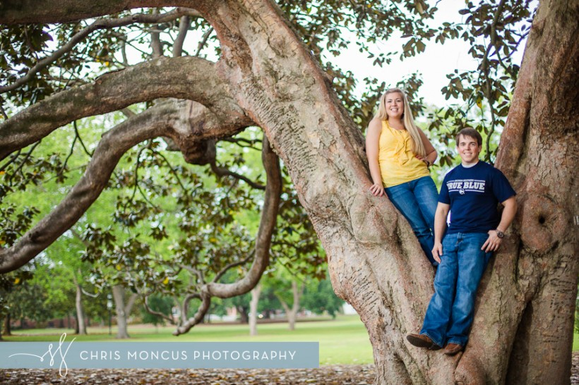 Statesboro Engagement Session Georgia Southern University Sweetheart Circle