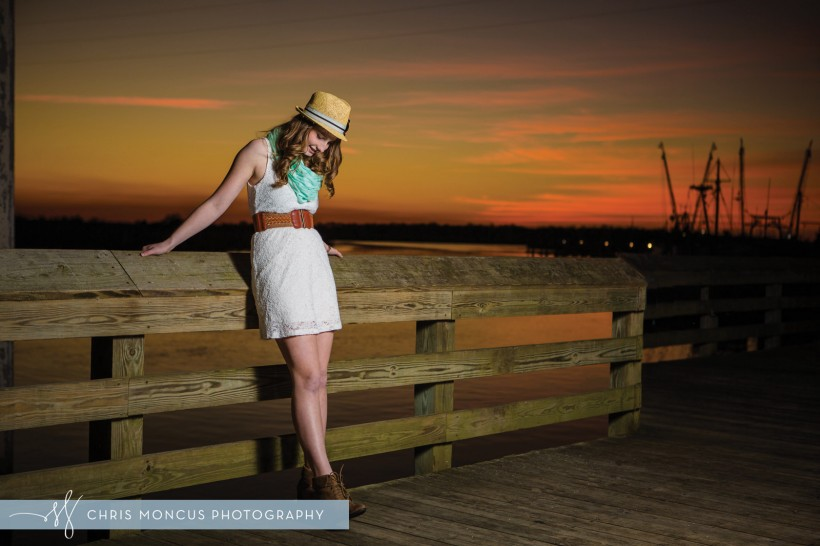 St Simons Sunset Senior Portraits Photography