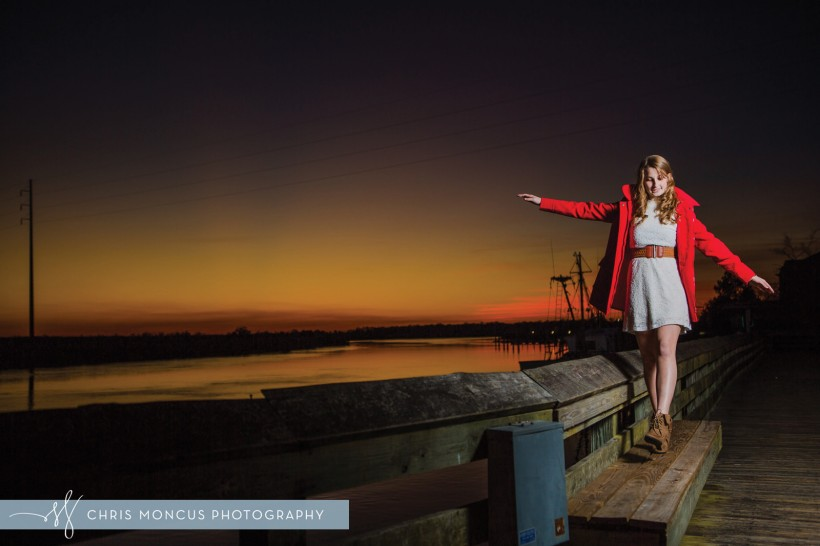 Coastal Sunset Senior Portraits
