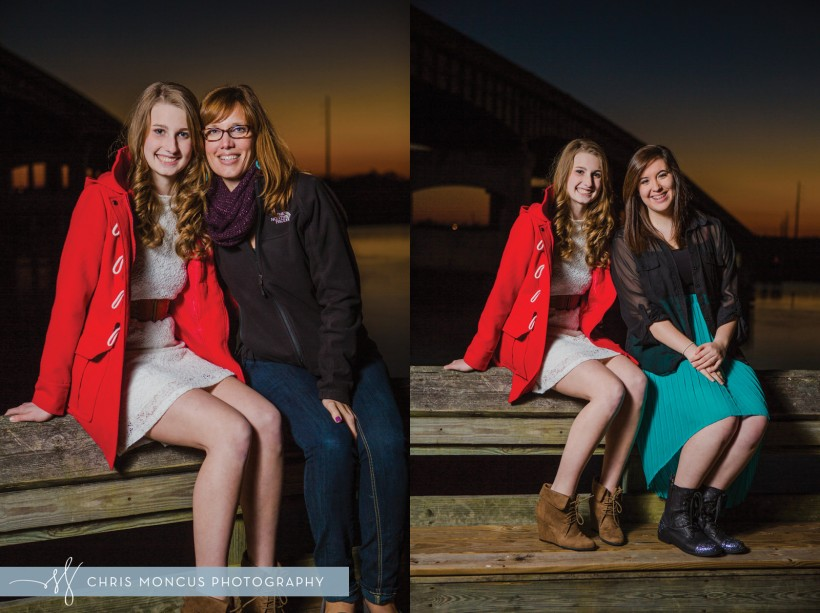 Senior Portraits with mom and Friend