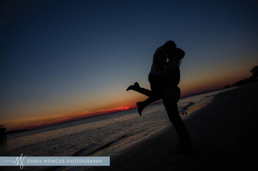 Sunset Kiss Silhouette St Simons Island