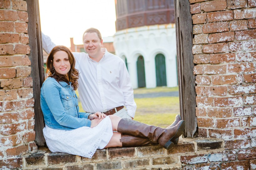 Engagement Photographer Roundhouse Railroad Museum Savannah