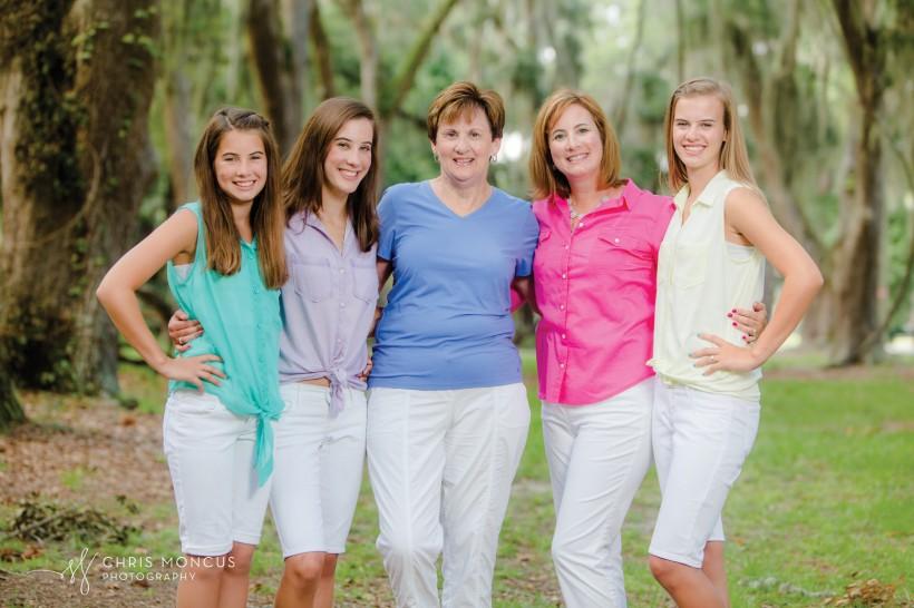 Three Generations Family Portrait St Simons Island
