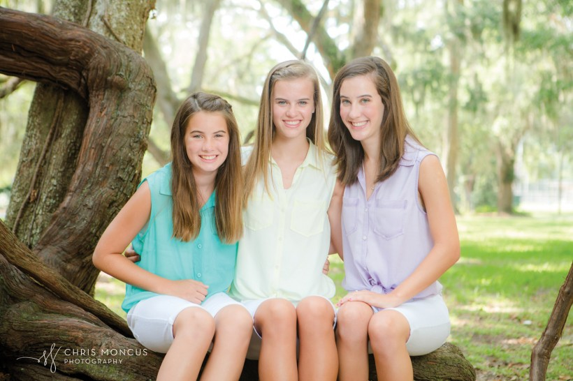 Three Sisters Mallery Park St Simons Island Family Portraits
