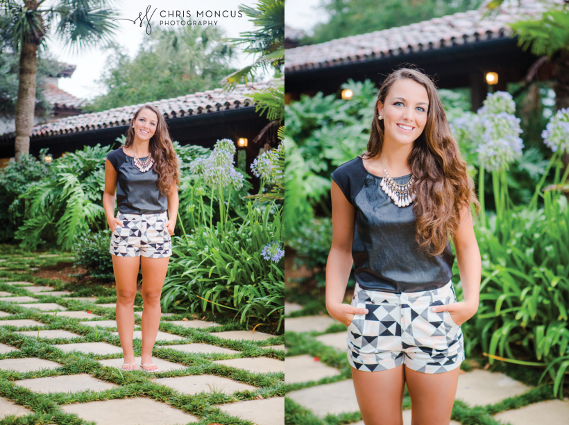 16 Sea Island Senior Photos at Cloister