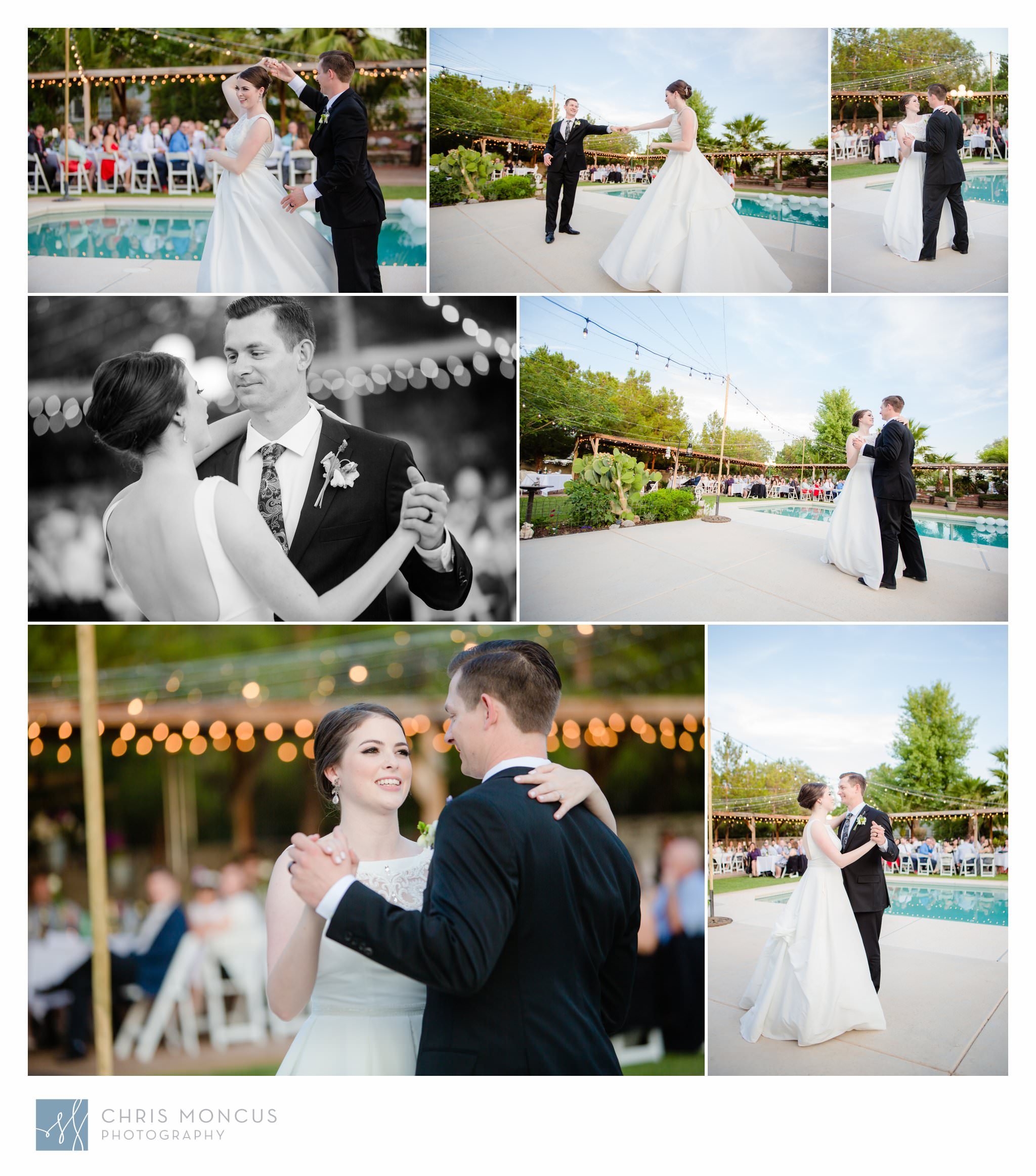 Bride and Groom First Dance Las Vegas Wedding